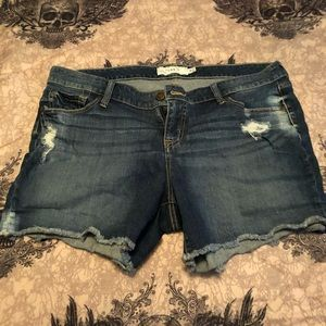 Torrid plus size jean shorts